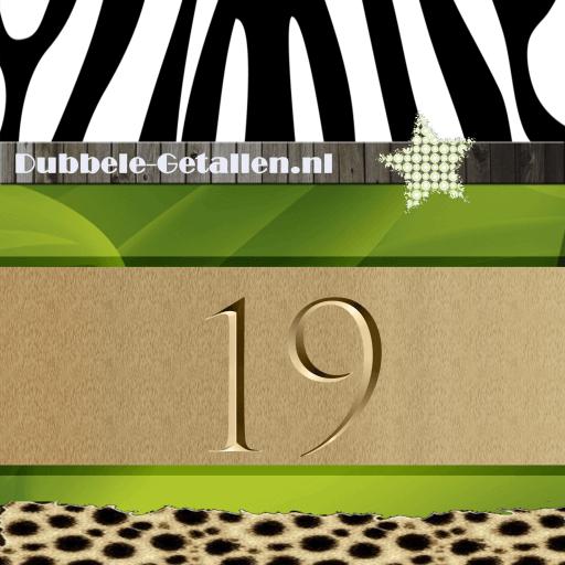 Nummer 19 Dubbele-Getallen
