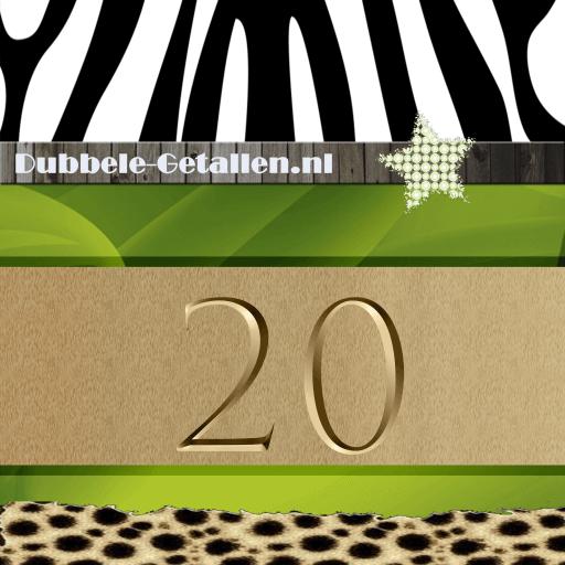 Nummer 20 Dubbele-getallen