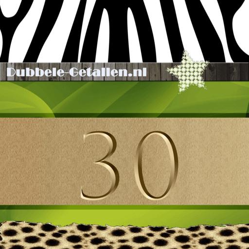 Nummer 30, Dubbele-getallen
