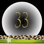Nummer 33 dubbele-getallen