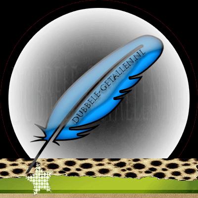 Veren en hun betekenis, blauwe veren, Dubbele-Getallen