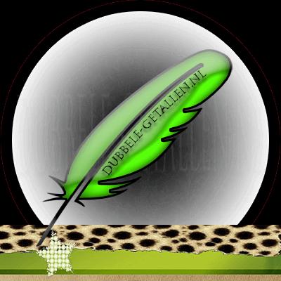 Veren en hun betekenis, groene veren, Dubbele-Getallen