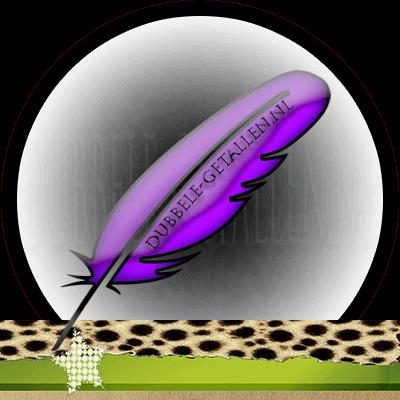 Veren en hun betekenis, paarse veren,  Dubbele-Getallen
