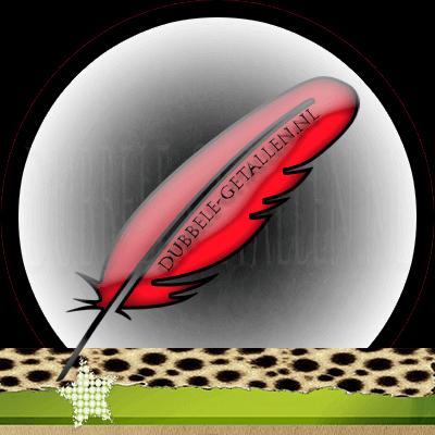 Veren en hun betekenis, rode veren, Dubbele-Getallen